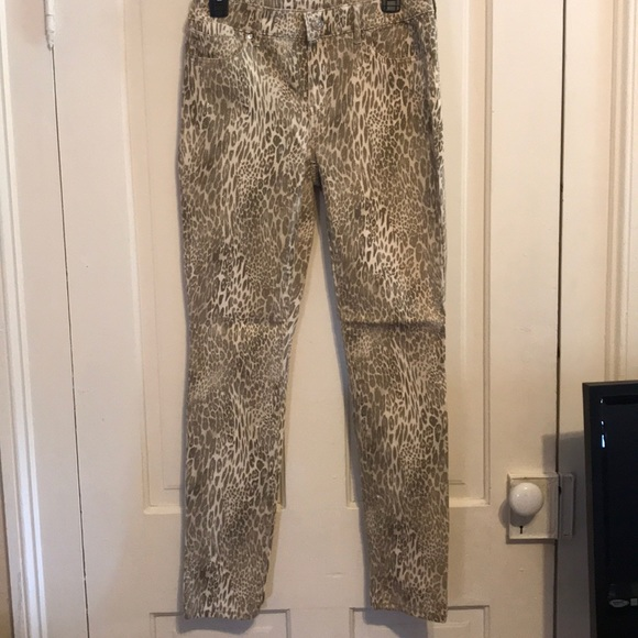 956f3638a242f Chico's Jeans | Chicos New Without Tags Platinum Leopard Jeggings ...